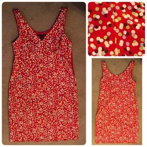 The Limited red multi color dot dress Sz 14 plus
